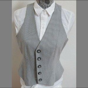 Sz 8 Gray Striped Nine West Womens #46E Suit Vest